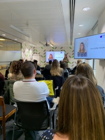 Lucy Cutler, Kinetic, speaking at a Balance OOH event.